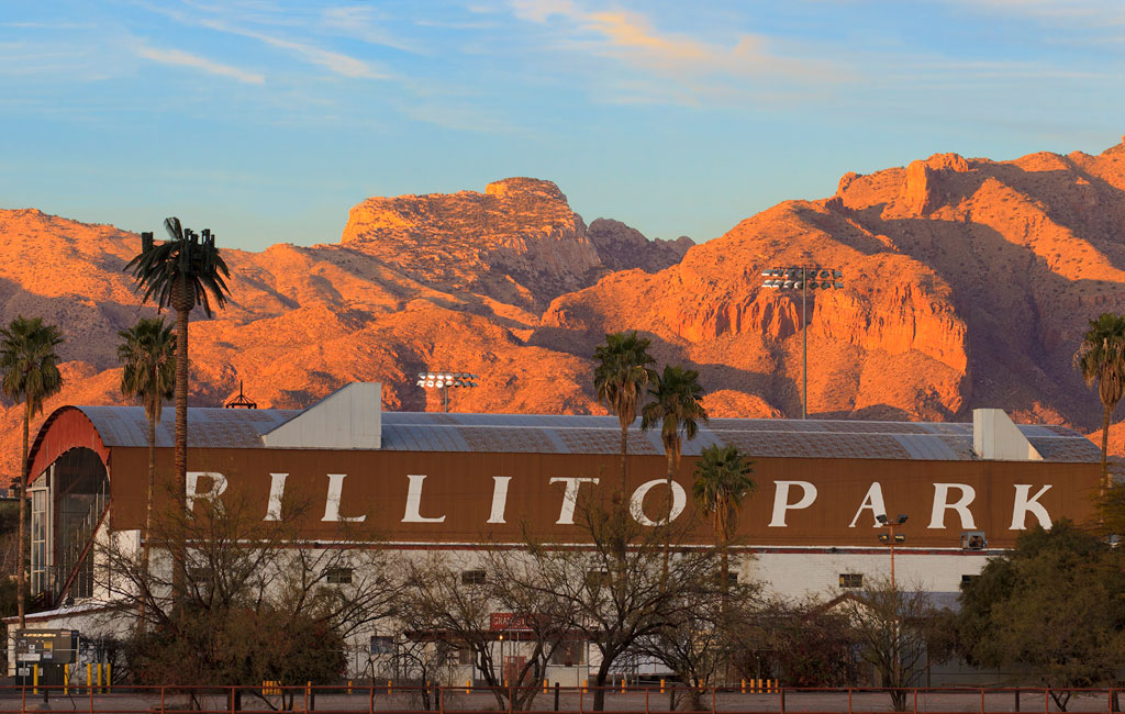 Rillito Park Racetrack at Sunset