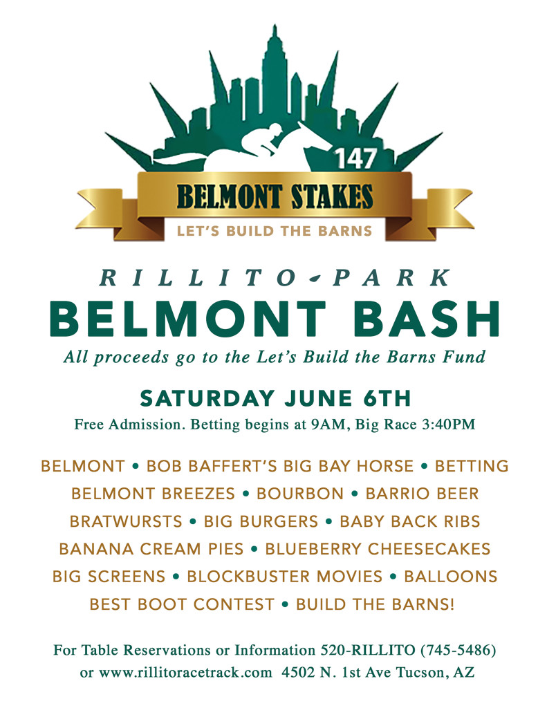 Let S Build The Barns With Rillito Park S Belmont Bash