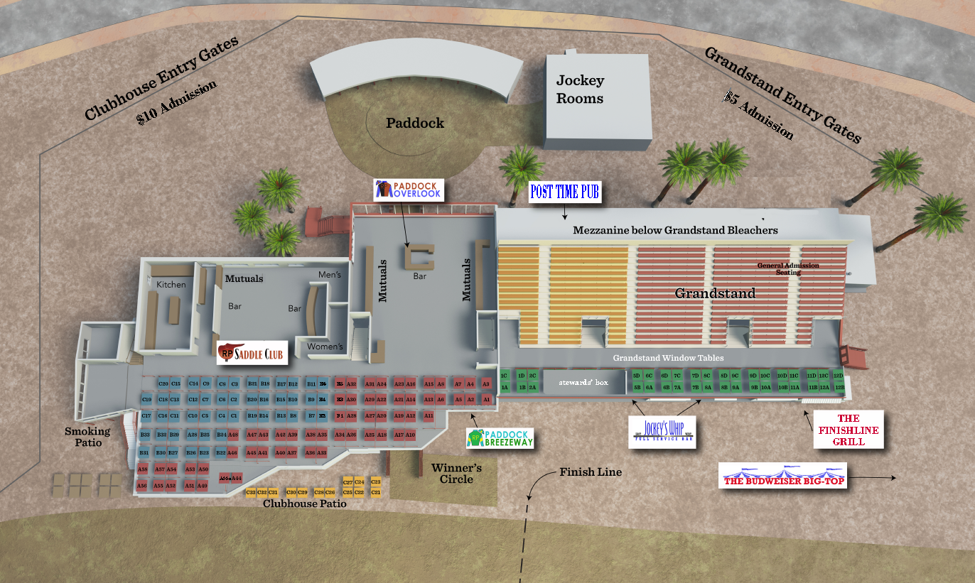 Map of Rillito Park Building facility